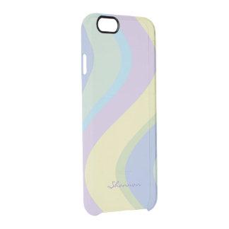 Pastel Designer Colors Wavy Striped iPhone 6 case