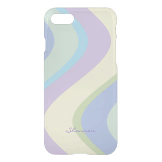 Pastel Designer Colors Wavy Striped iPhone 7 case