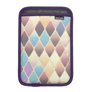 Pastel Diamond Mosaic iPad Mini Sleeve