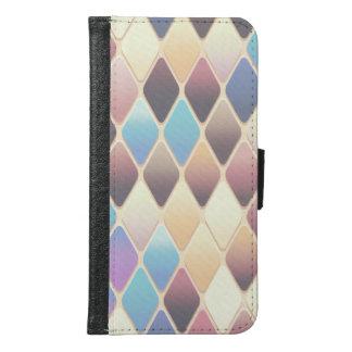 Pastel Diamond Mosaic Samsung Galaxy S6 Wallet Case