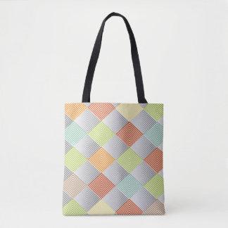 Pastel Diamond Pattern All-over-Print Tote Bag