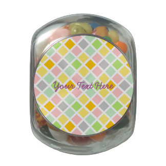 Pastel Diamonds custom tins & jars