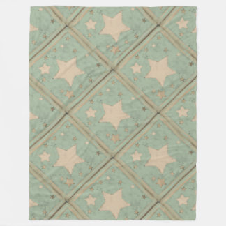 Pastel Distressed Muted Stars Pattern Muted Colors Fleece Blanket