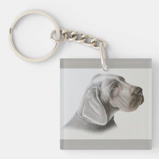 Pastel Dog Drawing Keychain