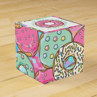 Pastel Donuts Birthday Party Theme Wedding Favor Box