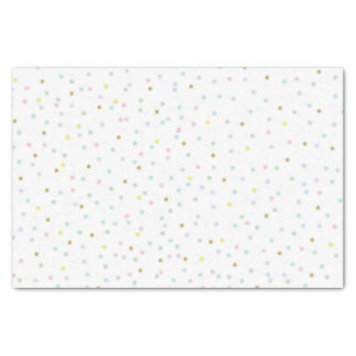 Pastel Dots and Faux Glitter Tissue Paper