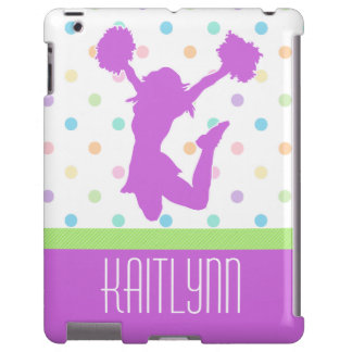Pastel Dots Cheer or Pom iPad Case