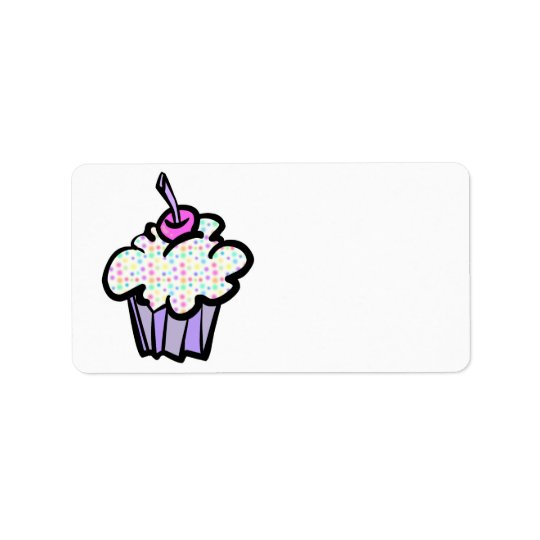 pastel dots cupcake label