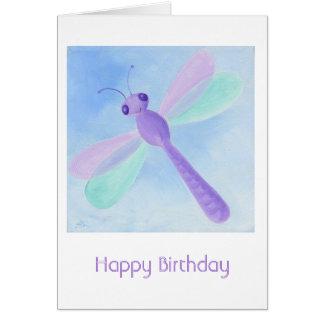 Pastel Dragonfly Birthday Card