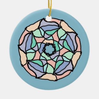 Pastel Dreams Ceramic Ornament