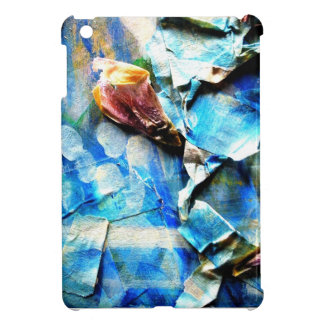 pastel dried flower collage iPad mini cover