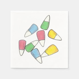Pastel Easter Basket Candy Corn Candycorn Napkins Paper Napkins