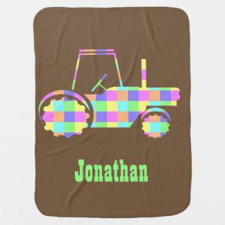 Pastel Easter Colored Custom Tractor Blanket