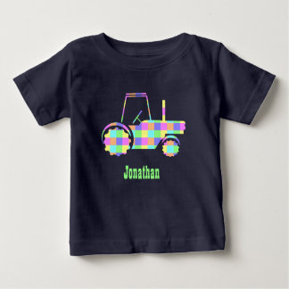 Pastel Easter Colored Custom Tractor Tee Shirt