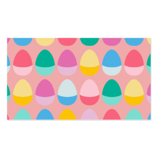 Pastel Easter Eggs Two-Toned Multi on Blush Pink Business Card