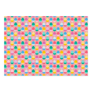 Pastel Easter Eggs Two-Toned Multi on Blush Pink Large Business Card