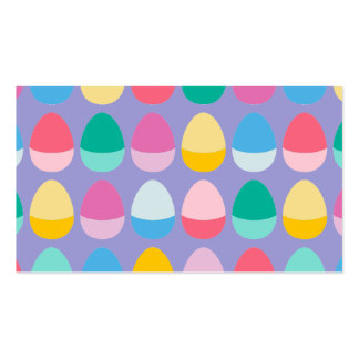 Pastel Easter Eggs Two-Toned Multi on Lilac Business Card