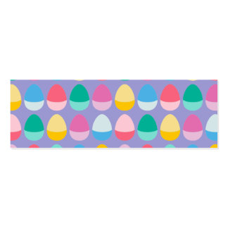 Pastel Easter Eggs Two-Toned Multi on Lilac Mini Business Card