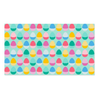 Pastel Easter Eggs Two-Toned Multi on Mint Business Card
