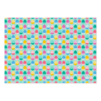Pastel Easter Eggs Two-Toned Multi on Mint Large Business Card
