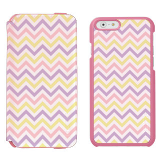 Pastel Easter Zig Zags Pattern Incipio Watson™ iPhone 6 Wallet Case