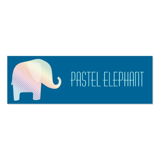 pastel elephant business card