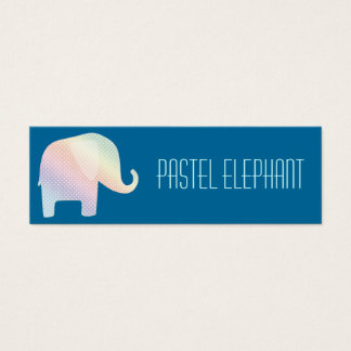 pastel elephant mini business card