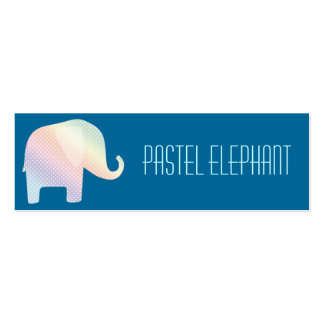 pastel elephant pack of skinny business cards