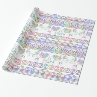 Pastel Elephant Pattern Wrapping paper