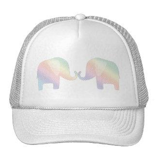 pastel elephants trucker hat