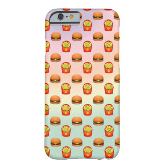 Pastel Emoji Burger and Fries Barely There iPhone 6 Case