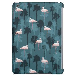 Pastel Flamingos On Teal iPad Air Covers
