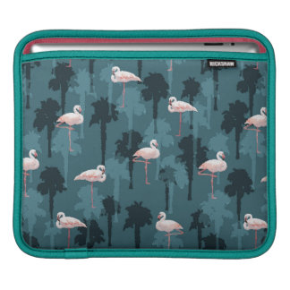 Pastel Flamingos On Teal Sleeve For iPads
