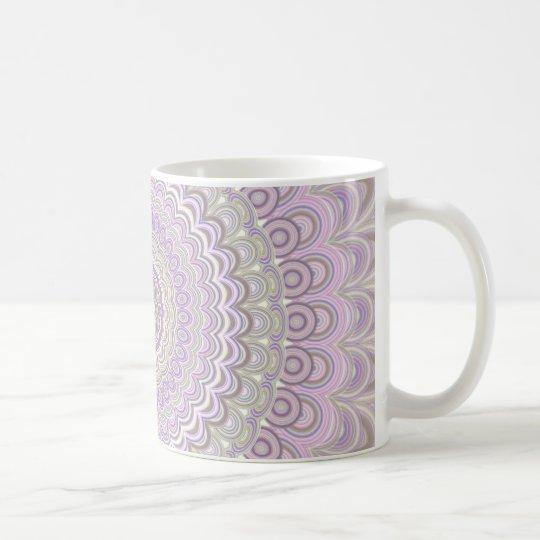 Pastel floral circle mandala coffee mug