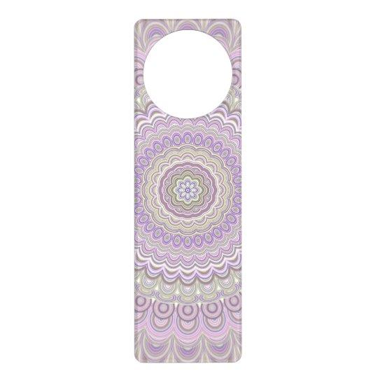 Pastel floral circle mandala door hanger