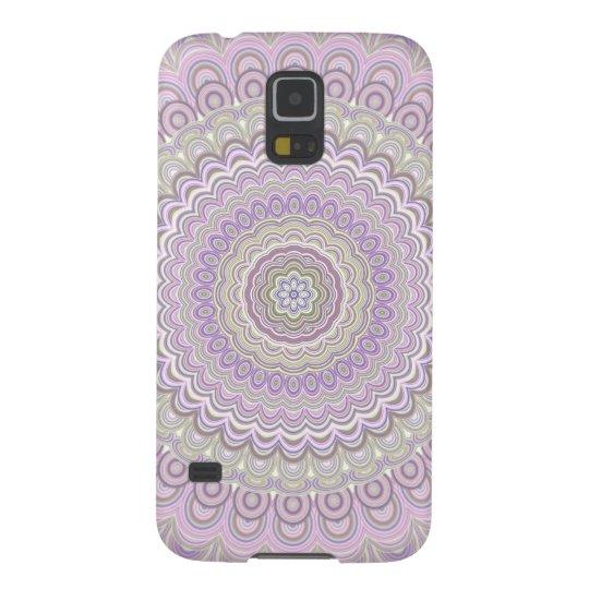 Pastel floral circle mandala galaxy s5 cover