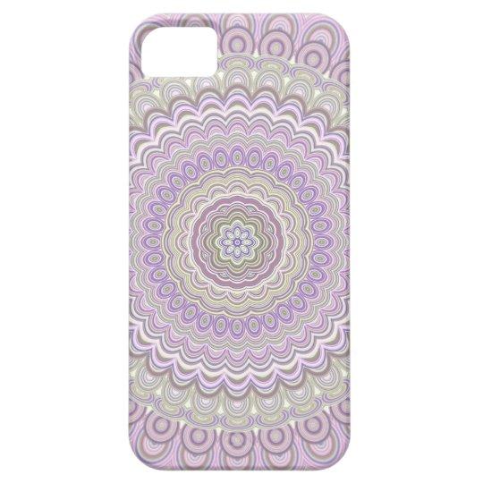 Pastel floral circle mandala iPhone 5 cases