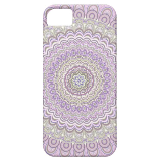 Pastel floral circle mandala iPhone 5 cover