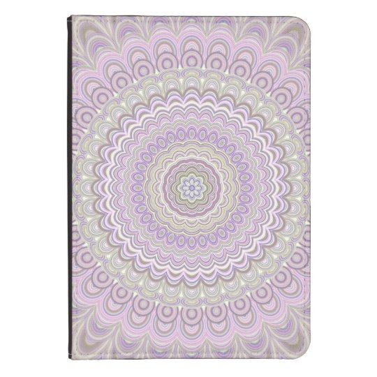 Pastel floral circle mandala kindle cover