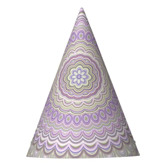Pastel floral circle mandala party hat