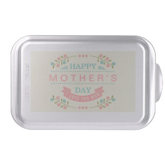 Pastel Floral Flowers Decor - Happy Mother's Day Baking Pan