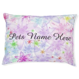 Pastel Floral Large Dog Bed