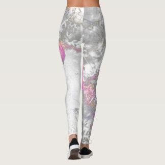 Pastel floral leggings