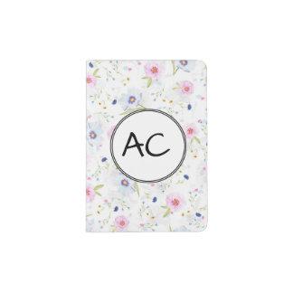 Pastel floral passport holder