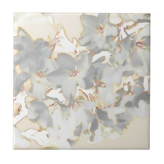Pastel Floral Print Tile