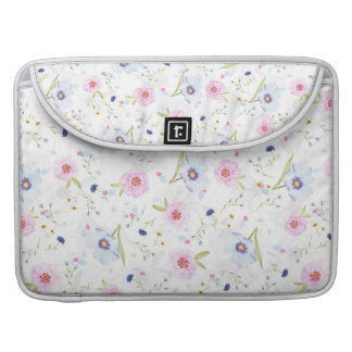 Pastel Floral Springtime Flowers Macbook Sleeve