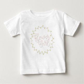 Pastel Floral Swirl | Flower Girl Baby T-Shirt