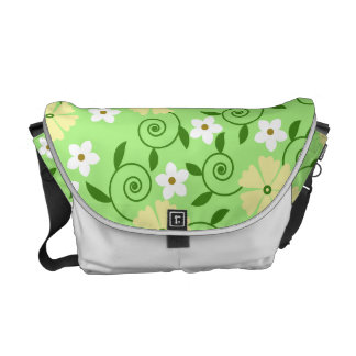 Pastel Floral Swirls Commuter Bag
