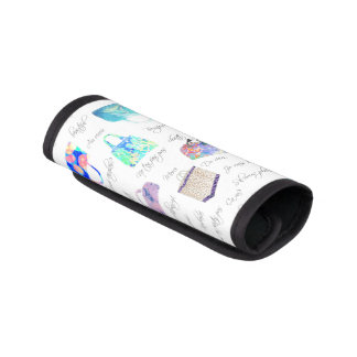 Pastel Floral Watercolor Illustrations Typography Handle Wrap