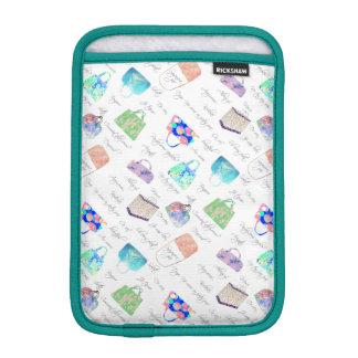 Pastel Floral Watercolor Illustrations Typography iPad Mini Sleeve